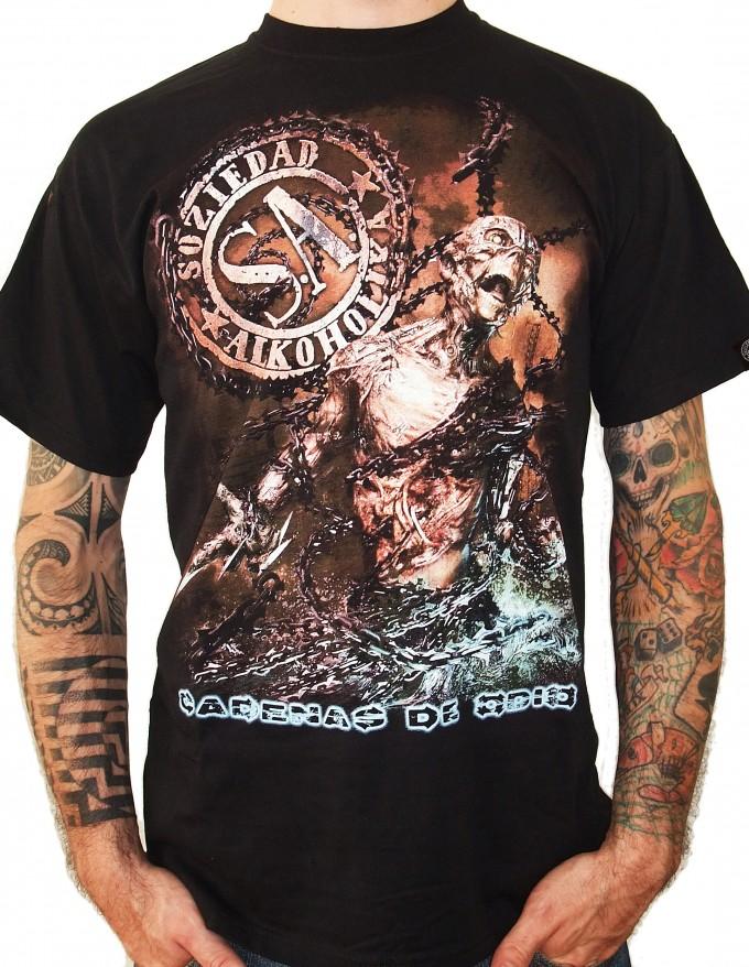Camiseta Chico Manga Corta - Negra - Cadenas De Odio