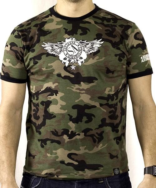 Camiseta Chico Manga Corta - Camuflaje - Calaveras Alas