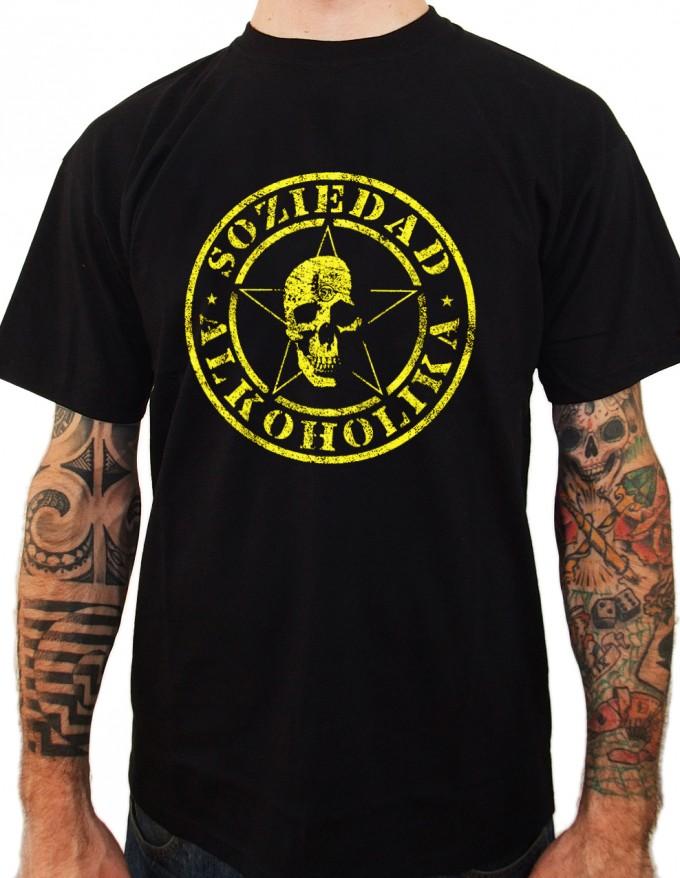 Camiseta Chico Manga Corta - Negra - Corrosiva