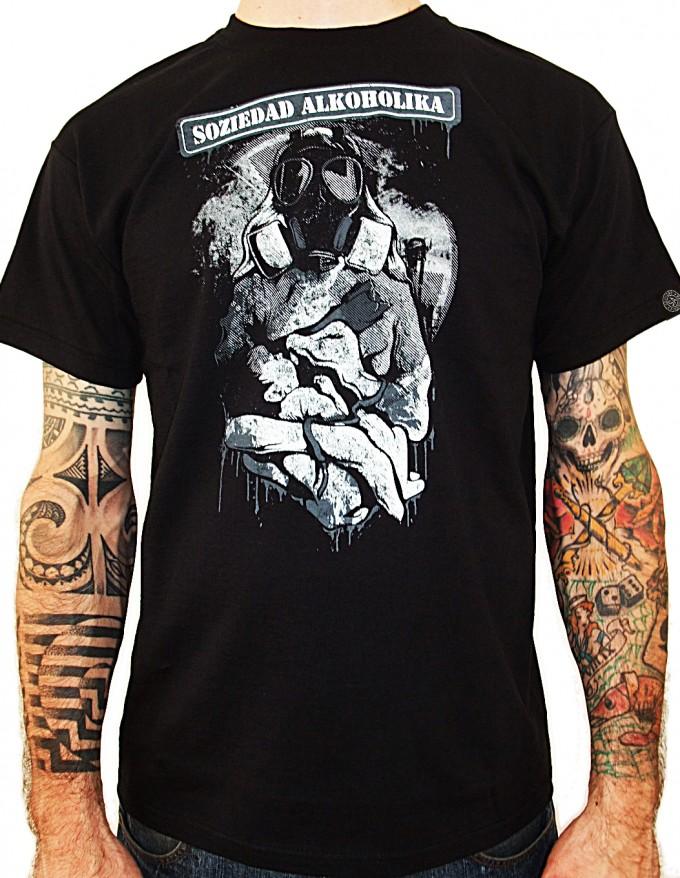 Camiseta Chico Manga Corta - Negra - Radioactiva