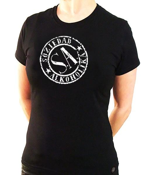 Camiseta Chica Manga Corta - Negra - Sello