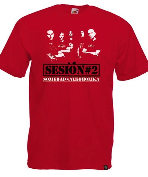 Camiseta Chico Manga Corta - Roja - Sesion#2