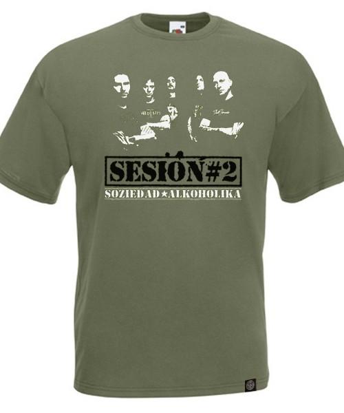 Camiseta Chico Manga Corta - Verde - Sesion#2
