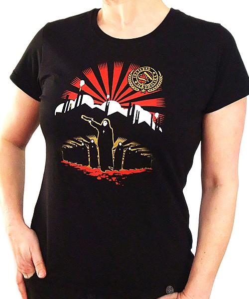 Camiseta Chica Manga Corta - Negra - Soviet