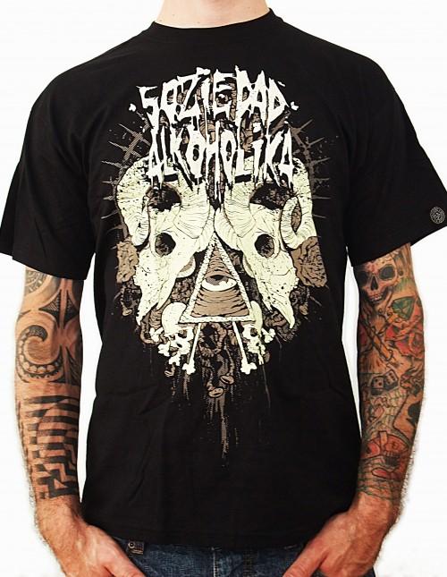 Camiseta Chico Manga Corta - Negra - Carneros