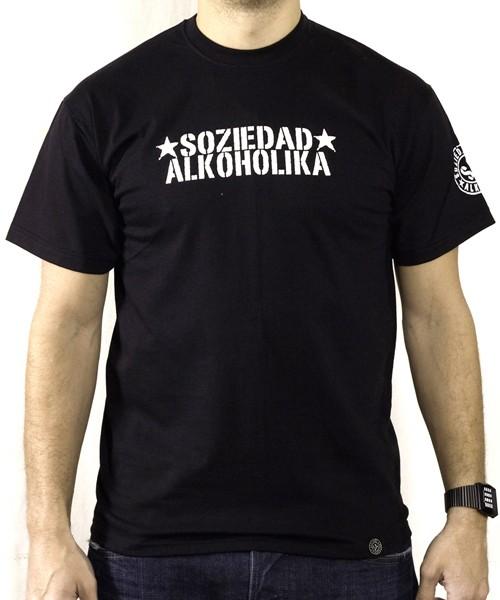 Camiseta Chico Manga Corta - Negra - Estrellas