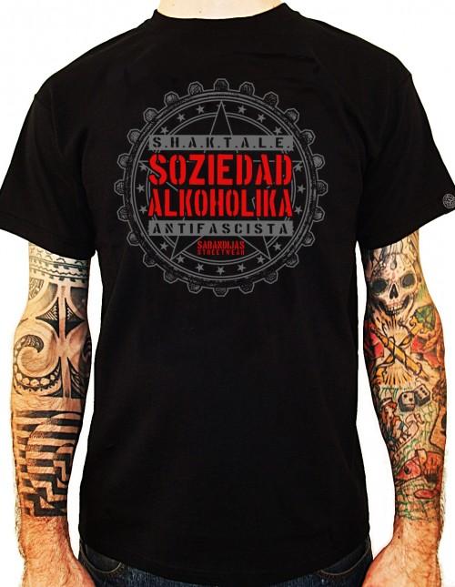 Camiseta Chico Manga Corta - Negra - Sabandijas