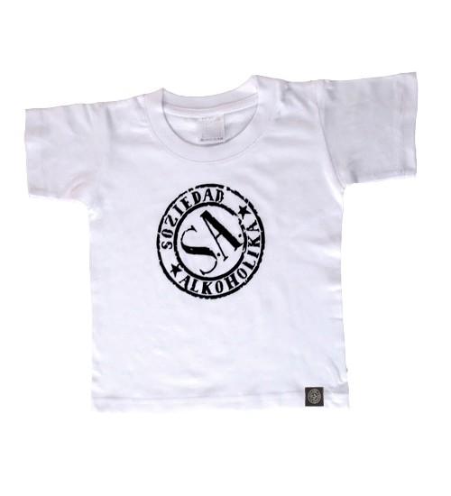 Camiseta Niño Manga Corta - Blanca - Sello