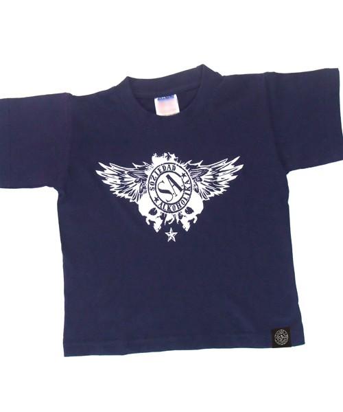 Camiseta Niño Manga Corta - Marino - Calaveras Alas