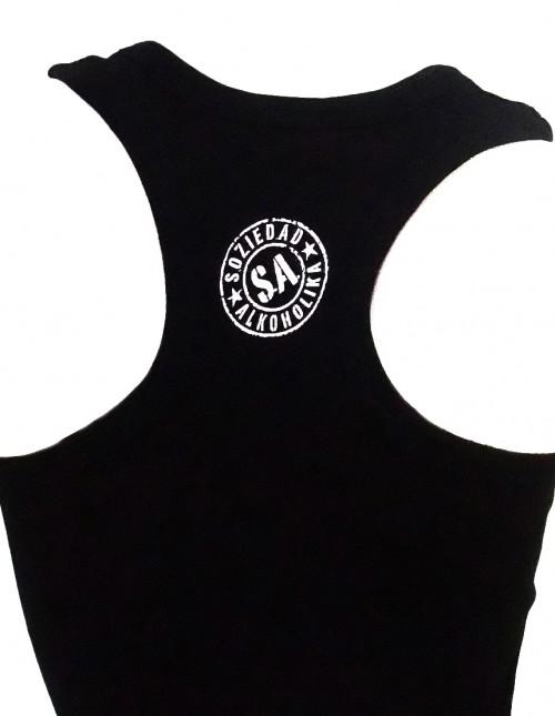Camiseta Chica Tirantes - Negra - Estrellas