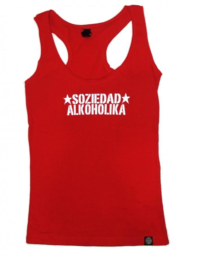 Camiseta Chica Tirantes - Roja - Estrellas