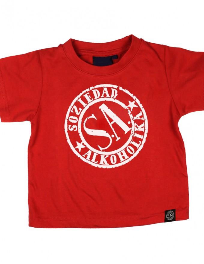 Camiseta Niño Manga Corta - Roja - Sello